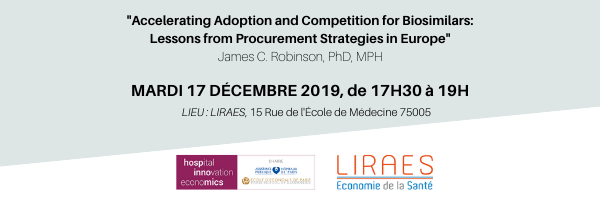 17 déc 2019 Evolutions of Pharmaceutical Price Negotiations in the United States (Pr. James C. Robinson)